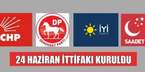CHP,İYİ PARTİ,SP VE DP İTTİFAKI KURULDU