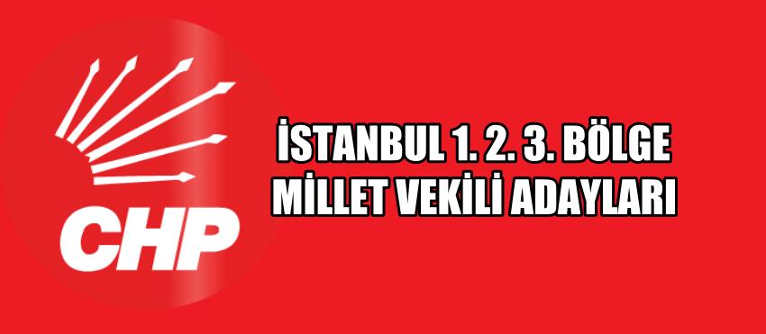 İSTANBUL 1.2.3. BÖLGE MİLLET VEKİLİ ADAYLARI