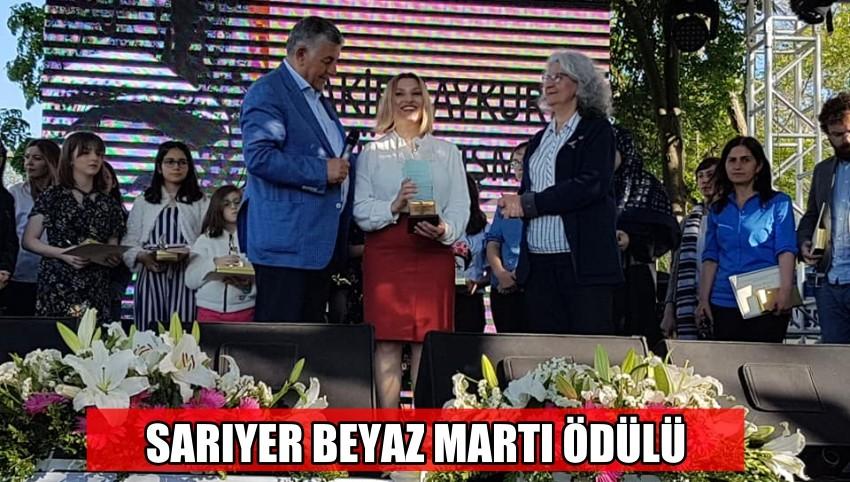 """SARIYER BEYAZ MARTI ÖDÜLÜ """"NURTEN ERTUL'A"""" VERİLDİ"""