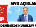 CHP MYK. KURULTAY YOK.