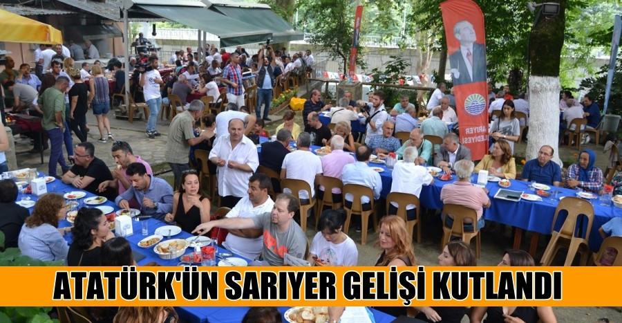 Atatürk'ün Sarıyer Gelişi Kutlandı.