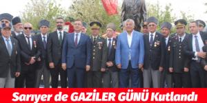 Sarıyer'de GAZİLER GÜNÜ Kutlandı
