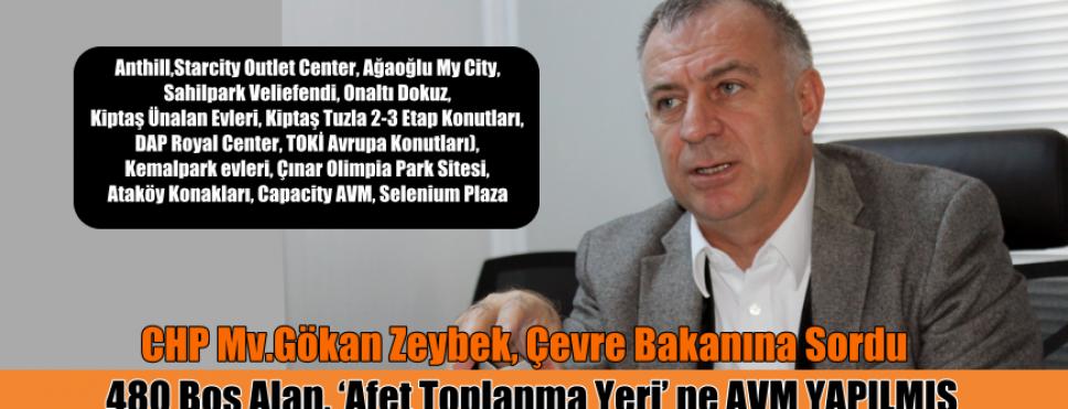GÖKAN ZEYBEK. İSTANBUL'DA  AFET TOPLANMA ALANLARI SORDU