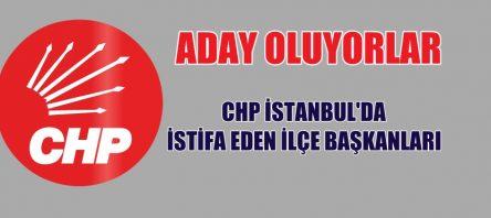 CHP İSTANBUL'DA STİFA EDEN İLÇE BAŞKANLARI