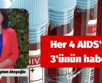 Her 4 AIDS'liden 3'ünün haberi yok