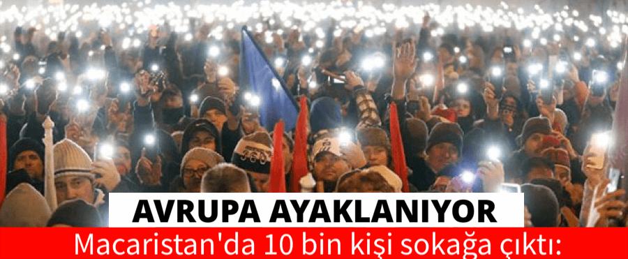 "MACARİSTAN ""KÖLE YASASINI PROTESTO ETTİ"""