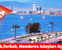 """İZMİR """"Selçuk,Torbalı, Menderes Adayları Açıklandı"""