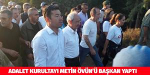 ADALET KURULTAYI METİN ÖVÜN'Ü BAŞKAN YAPTI
