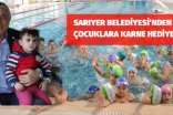 SARIYER BELEDİYESİ'NDEN ÇOCUKLARA KARNE HEDİYESİ