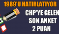CHP'YE GELEN SON ANKET 2 PUAN