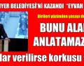 """CHP SARIYER BELEDİYESİ'Nİ KAZANDI """"EYVAH DEDİLER"""""""