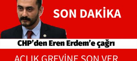 CHP'den Eren Erdem'e çağrı