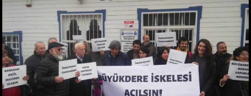 Sarıyer'de iskele eylemi: Büyükdere İskelesi açılsın