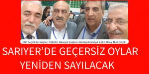 SARIYERDE GERÇERSİZ OYLAR SAYILACAK