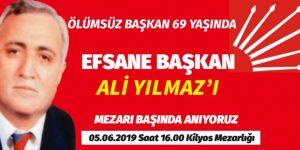 EFSANE BAŞKAN ALİ YILMAZ' ANIYORUZ