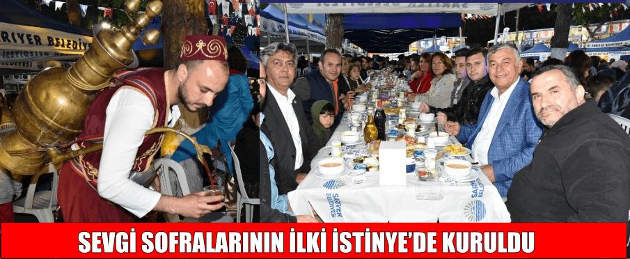 SEVGİ SOFRALARININ İLKİ İSTİNYE'DE KURULDU