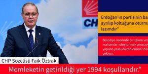 Faik ÖZTRAK. CHP'li belediyeler ayrım yapmayacak