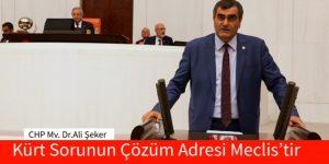 Kürt Sorunun Çözüm Adresi Meclis'tir