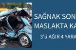 Sağanak sonrası Maslak'ta feci kaza: 3'ü ağır 4 yaralı