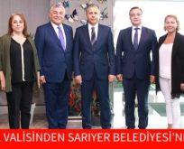 İSTANBUL VALİSİNDEN SARIYER BELEDİYESİ'NE ZİYARET