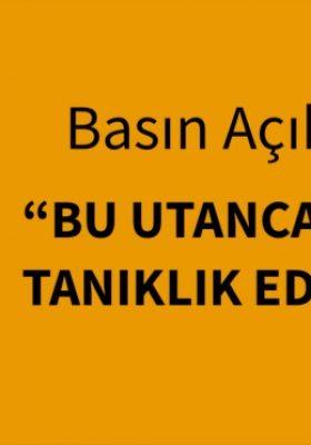 """İSTANBUL BAROSU """" BU UTANCA İKİNCİ KEZ TANIKLIK EDİYORUZ"""""""