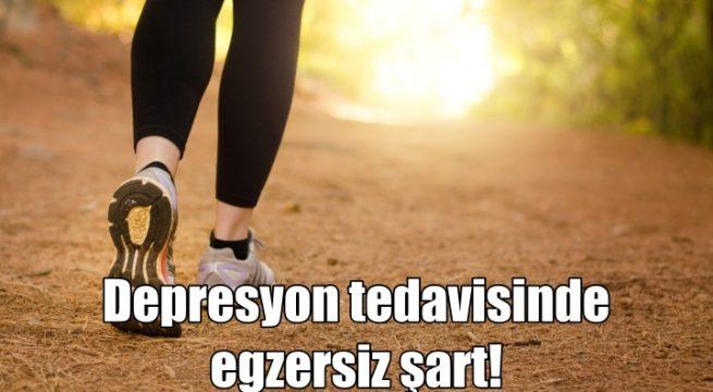 Depresyon tedavisinde egzersiz şart!