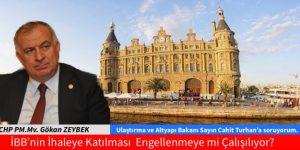 İstanbul Büyükşehir Belediyesinin ihaleye katılması engellenmeye mi çalışılıyor?