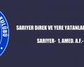 SARIYER DiREK VE YERE YATANLARA TAKILDI..