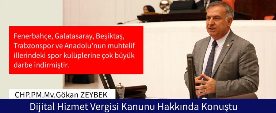 Zeybek, Dijital Hizmet Vergisi Kanunu Hakkında Konuştu.