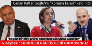 """Canan KAFTANCIOĞLU """"Başıma bir olay gelirse sorumlusu Süleyman Soylu'dur"""""""