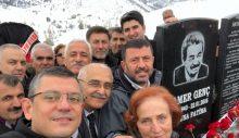 Eski CHP Tunceli milletvekili Kamer Genç mezarı başında anıldı