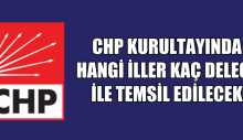 CHP KURULTAYINDA OY KULLANACAK 1200 DELEGE
