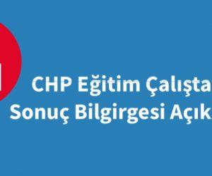 CHP'nin Eğitim Çalıştay Sonuç Bildirgesi: