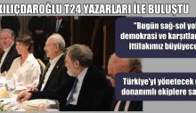 """Kılıçdaroğlu :""""Bugün sağ-sol yok, demokrasi ve karşıtları var; ittifakımız büyüyecek"""""""