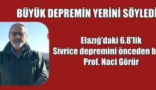 """Prof. Naci Görür """"YENİ BÜYÜK DEPREMİN YERİNİ SÖYLEDİ"""""""