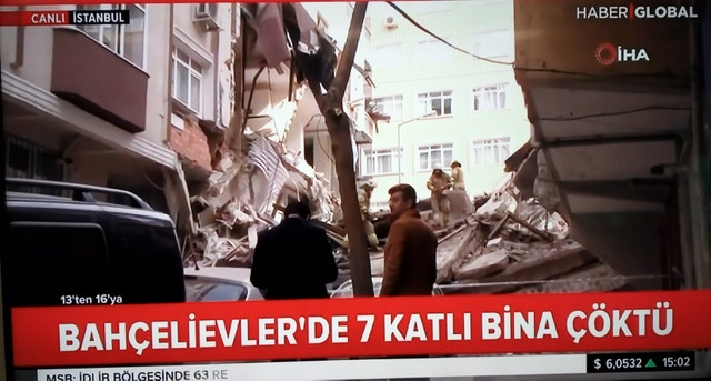 Son dakika: İstanbul Bahçelievler de bir bina çöktü