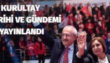CHP Kurultay Gündemi ve Tarihi Yayınlandı