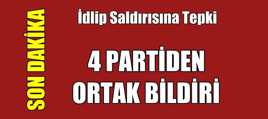 Meclis'te 4 partiden İdlib saldırısına tepki!