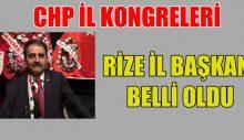 CHP Rize İl Başkanı Belli Oldu
