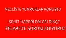 MECLİSTE YUMRUKLAR KONUŞTU,