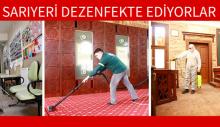 SARIYERİ DEZENFEKTE EDİYORLAR