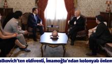 Malkovich'ten eldivenli, İmamoğlu'ndan kolonyalı önlem