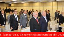 CHP İstanbul'un 39 Belediye Meclisinde Ortak Bildiri Okundu