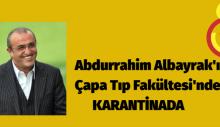 Abdurrahim Albayrak'ın Çapa Tıp Fakültesi'nde karantinada