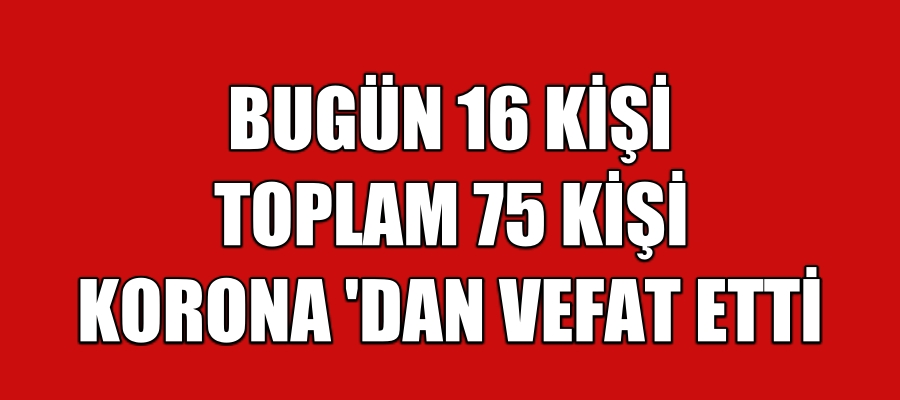 Türkiye Koronadan Ölen Kişi Sayısı 75 Yükseldi