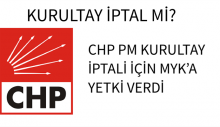 CHP PM KURULTAY İPTALİ İÇİN MYK'A YETKİ VERDİ