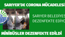 SARIYER DEZENFEKTE EDİLİYOR