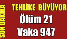 Türkiye Ölüm 21 Vaka 947