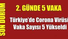 Türkiye'de Corona virüsü vaka sayısı 5 yükseldi