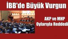 İBB'de Büyük Vurgun AKP ve MHP Oylarıyla Reddedildi